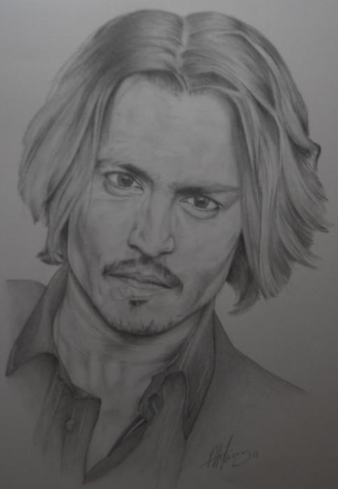 Johnny Depp by pencilartandy